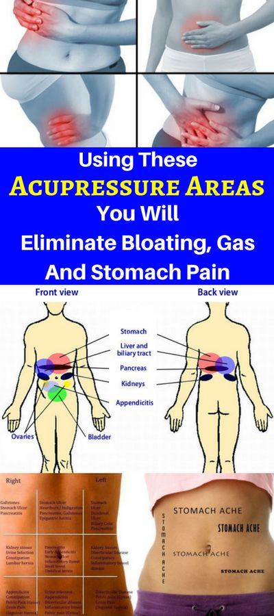 Using These Acupressure Areas You Will Eliminate Bloating, Gas And Stomach Pain! – OBSOLO