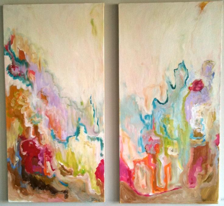 Rebecca Cabassa at GramercyAtlanta Artists, Beautiful Painting, Inspiration, Abstract Art, Watery Colors, Blank Canvases, Rebecca Cabassa Gramercy, Beautiful Artworks, Bright Colors