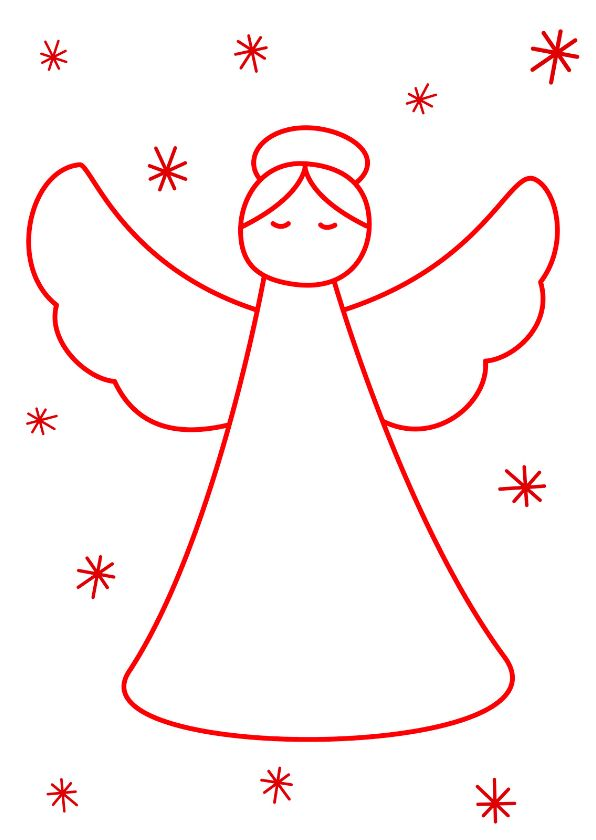 kerstkaart kerst engel verkrijgbaar bij kaartje2go voor