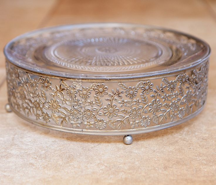 Milly Vanilly Cake Stand Silver 33cm