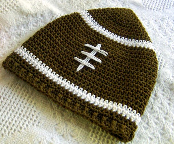Slouchy Football Hat by Darleen Hopkins