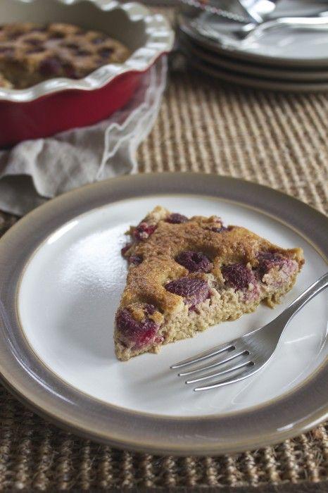 Raspberry Clafoutis/Flaugnarde {Grain-Free}