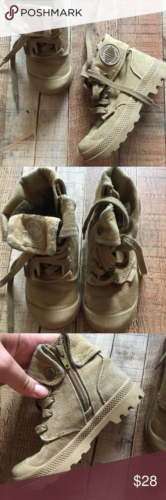 Kids palladium boots Kids desert folded canvas boots Palladium Shoes Boots