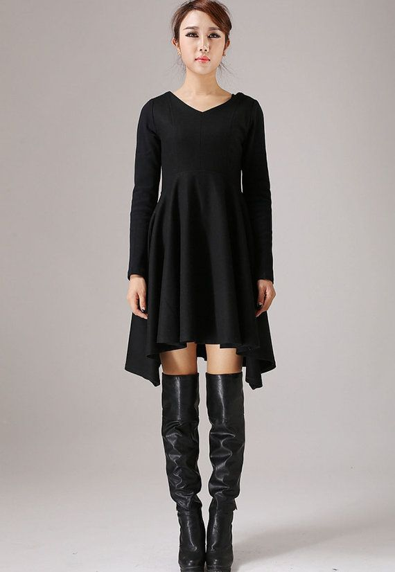 Cocktail Dress Little Black Dress Party Dress by xiaolizi on Etsy
