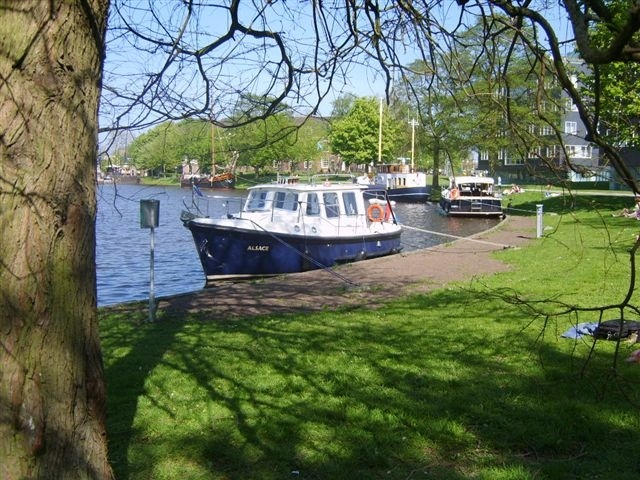The Prinsentuin, a very nice harbour in the city centre of Leeuwarden, the capital of Friesland