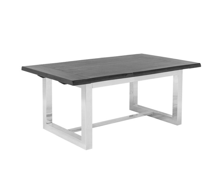 Check out this awesome extendible dining table. We love the acacia veneer top especially when pared the the polished stainless steel frame.