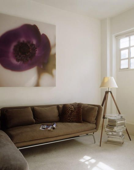 large purple flower on the wall