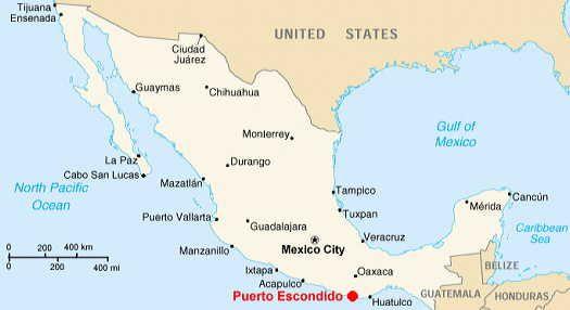 Puerto Escondido, Oaxaca; Mexico