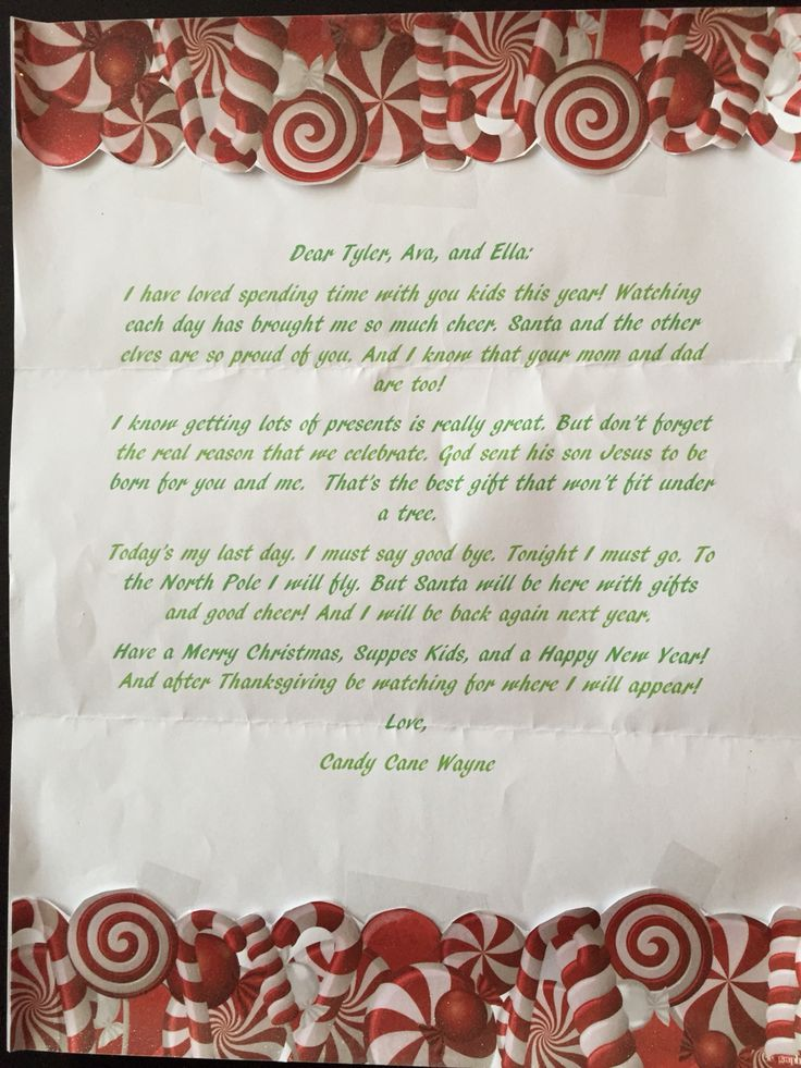 Best  Goodbye Letter From Elf Ideas On   Letter From