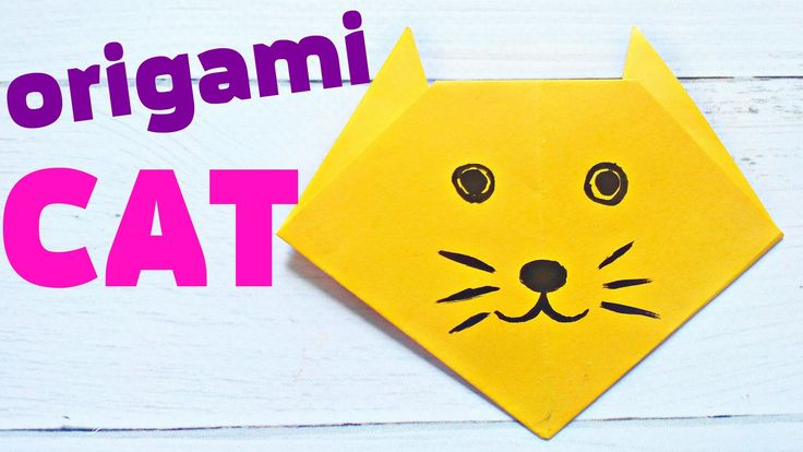 ORIGAMI cat face animals easy tutorial 3d instructions Origami diagrams for children, for beginners