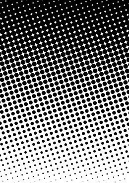 Obsessed with halftone circle gradation patterns