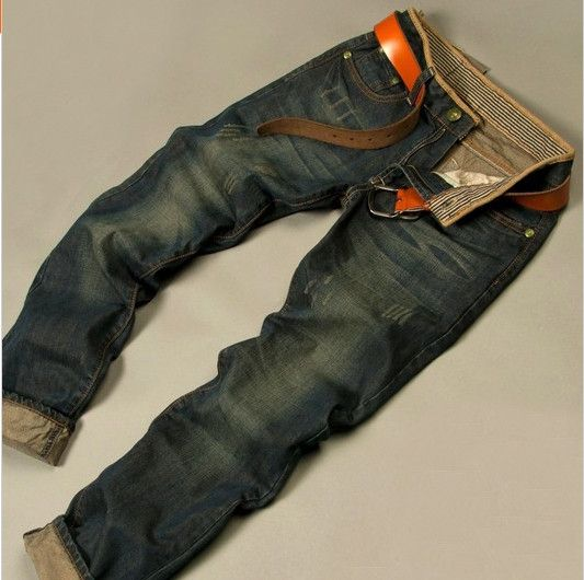 "FREE SHIPPING Gender: Men Item Type: Jeans Fit Type: Straight Style: ""European…"