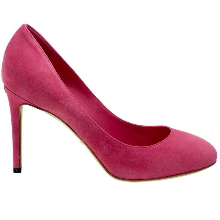 Gucci 338776 Suede Gg Pink Pumps