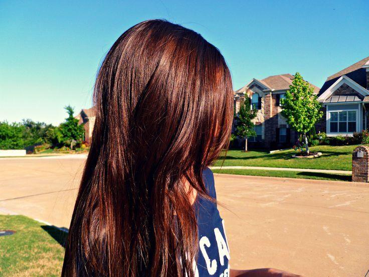 chocolate auburn hair color. Love the shine