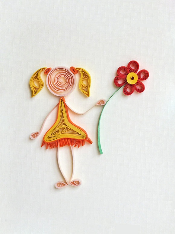 cute quilling idea for a card