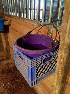 For the horse that tips his water bucket. We all have one. ;)