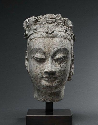 Bodhisattva Head. China, Northern Qi Dynasty (550-577)