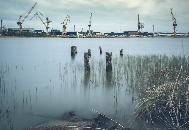 Perno Shipyard in Raisio - Copyright Sami Hurmerinta 2017  #finland #shipyard #longexposure #turku #raisio