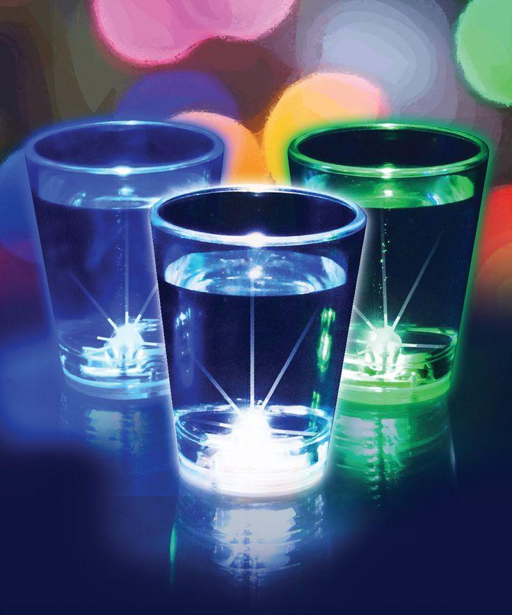 Flashing Shot Glass - Set of Three