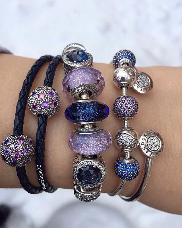 Focussing on lovely Pandora beads and bracelets as the windchill drops to -22  #uniqueasyouare #pandoraaddict #theofficialpandora #thelookofyou #pandorastyle #purple #violet #moonlight #blue #crystals #muranoglass #glassbeads #silver #pandorabracelets #cosmic #stars #essence #peace #happiness #joy #pandorabeads #myarmparty