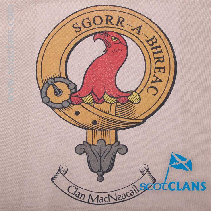 MacNeacail Clan Crest Antique T Shirt