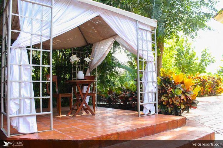 Спа Каса Велас – это не только огромный роскошный комплекс в помещениях отеля, но и несколько спа-беседок на свежем воздухе: в саду и на пляже.