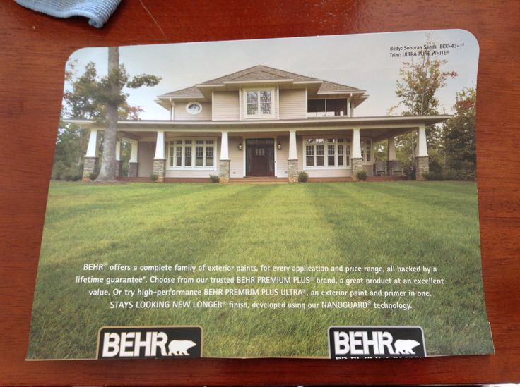 Paint Colors Behr Sonoran Sands And Ultra Pure White Trim