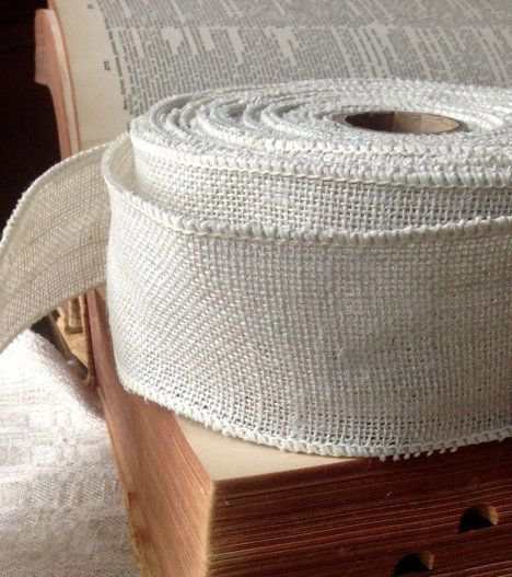 rustic white burlap wired ribbon rustic primitive elegant country diy wedding projects