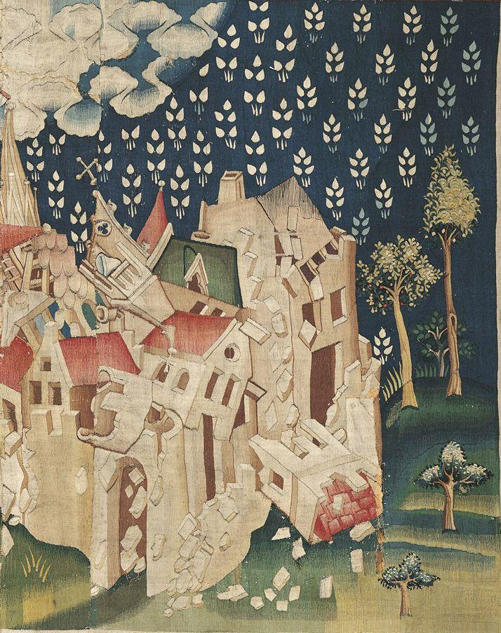 Le Deuxième Ange messager, Apocalypse, 14, 8. Quatrième ensemble, tapisserie 50 (détail)