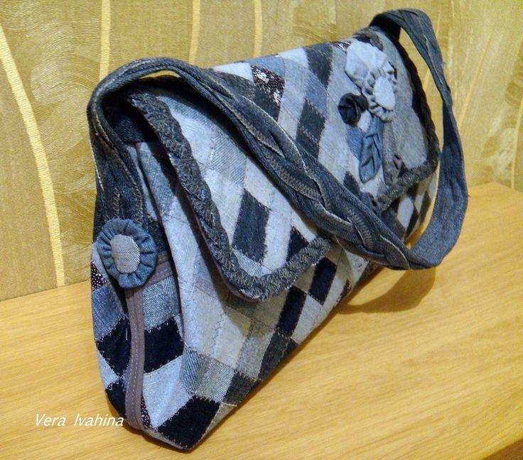 сумочка из джинсовой ткани