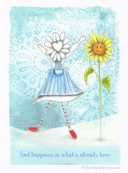 One more of Flora's cards for today ~  May you find Happiness today xx