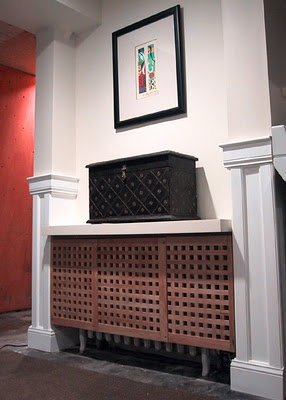 nice radiator cover. ikea hack
