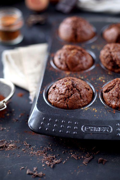 Muffins au chocolat et piment d'Espelette