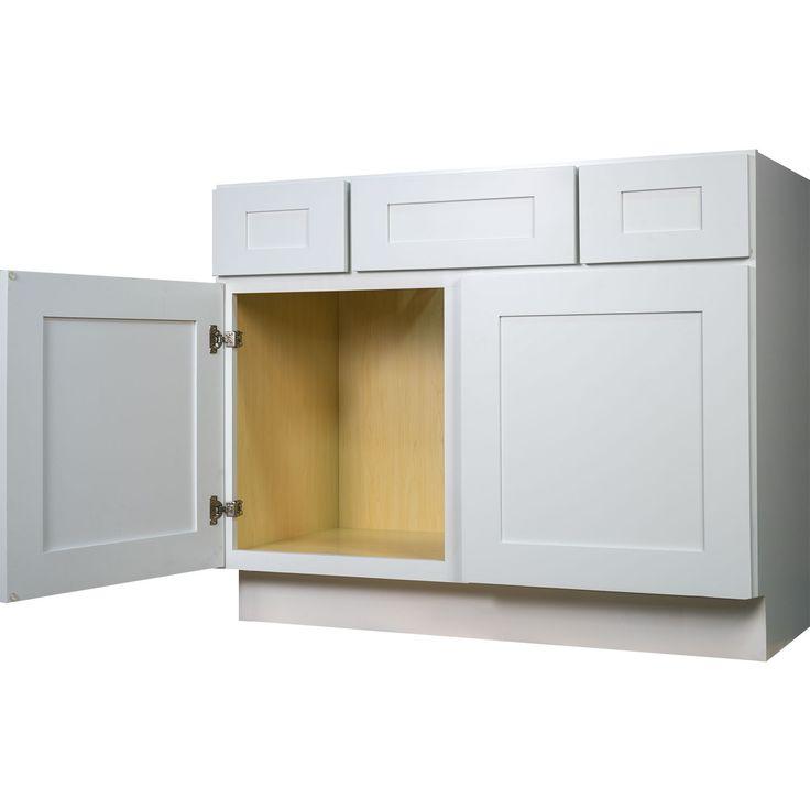 24 Inch Full Height Door Base Cabinet In Shaker Espresso With 2 Soft Close Doors 1 Shelf 24