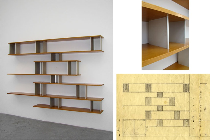"""Nuage"" wall-mounted bookcase, 1958, by Charlotte Perriand"