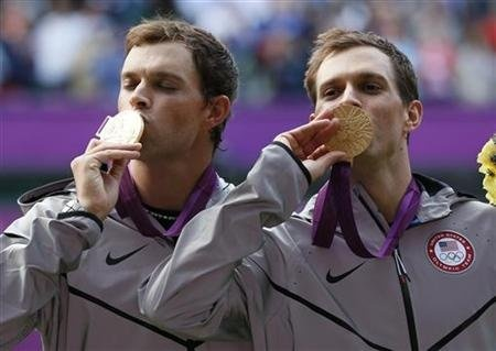 Rob and Michael Bryan American Tennis Twins who won Olympic Gold in the mens doubles at London 2012. Well Done