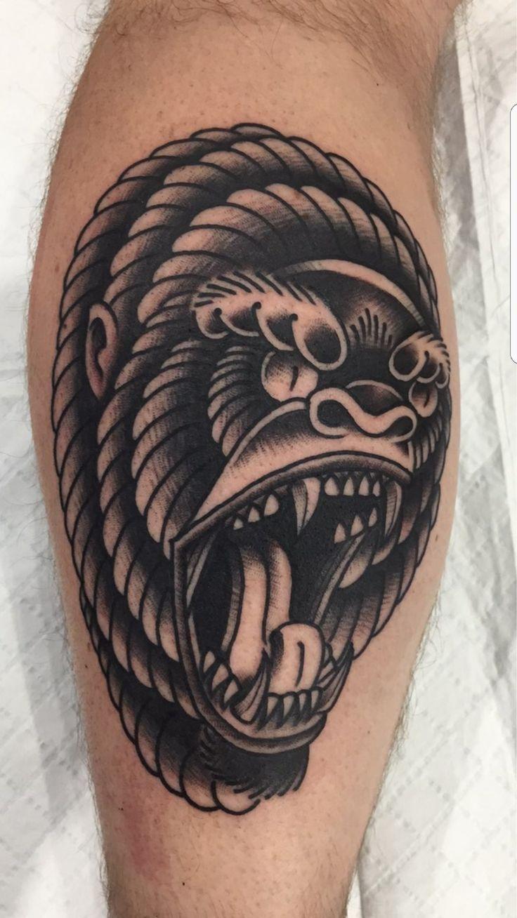 My new Gorilla. Artist James Grey. Valley Ink. Brisbane Australia.