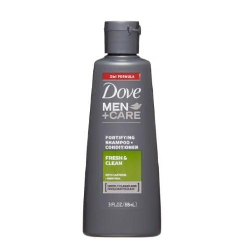 Dove Men + Care Fresh and Clean Shampoo + Conditioner, 3 oz.
