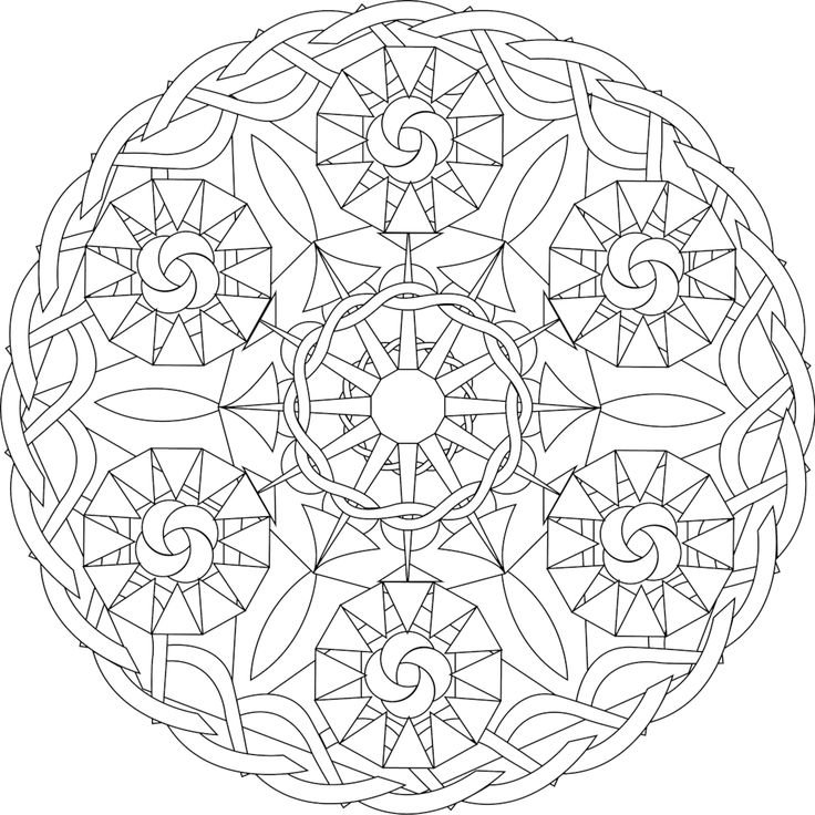 Six Sisters, a free printable mandala coloring page. Print from this page! https://mondaymandala.com/m/six-sisters?utm_campaign=sendible-all&utm_medium=social&utm_source=sendible&utm_content=six-sisters