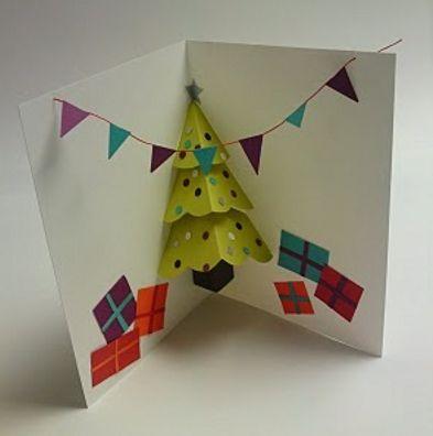 вместе  сребенком сделать открытку на новый год