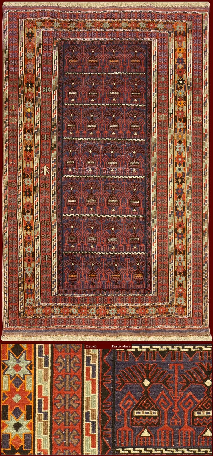 Old Azerbaijan Kilimcm 240 x 149. This rug of old manufacture has been realized with the technique of the detach kilim, in which the design is made exclusively using colored threads of the woof. . For technical reasons the kilim patterns are always geometric, in fact the change of color can happen just horizontally or in orthogonal sense as opposed to the warp.