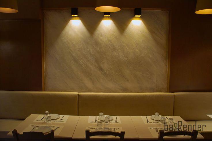 Recessed wall: Stucco Pietra Spaccata - Barbalexis Oriental Restaurant in Piraeus