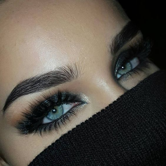 Stunning lashes and eyebrows!