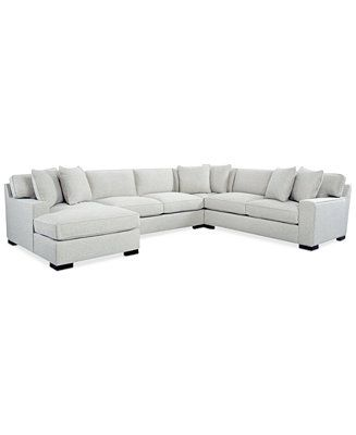 Bangor 4-Pc. Sectional Sofa with Chaise, Created for Macy\'s in 2019 ...