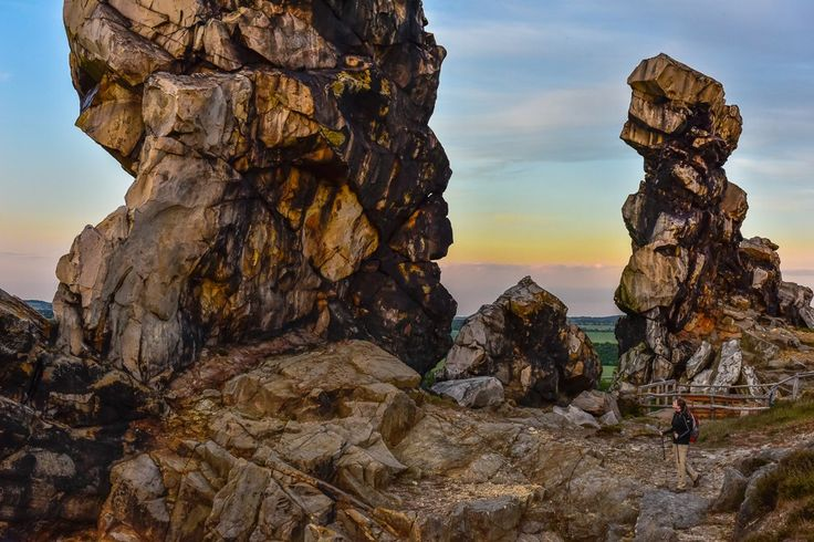 Teufelsmauer at Harz, Germany - photo by David Koester