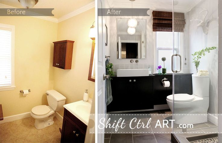 This small bathroom looks a million times better after. Powder room turned full bath part III - the reveal