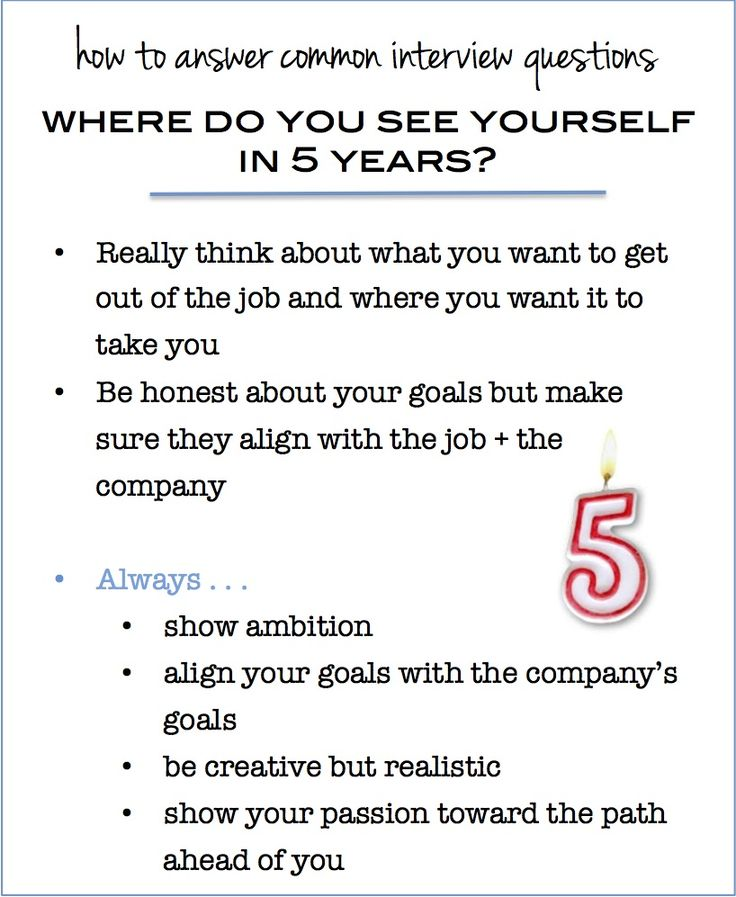 common interview questions  where do you see yourself in 5