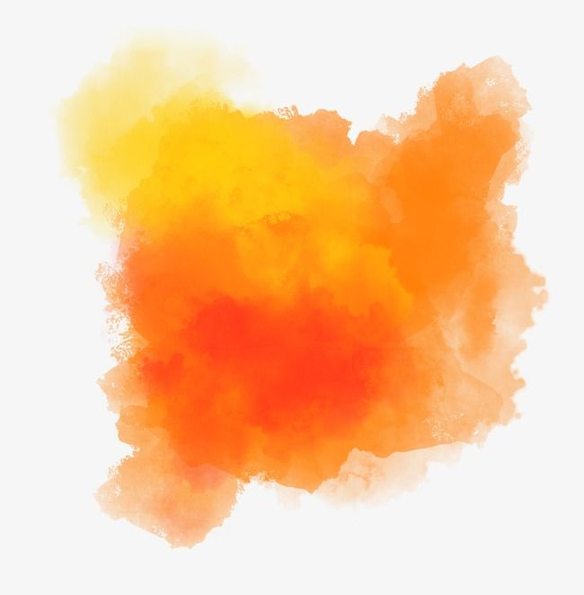 Orange Smoke Watercolour Texture Background Smoke Wallpaper