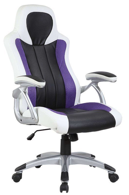 Lilac Office Chair Gst On Dental Swivel Ajustable Armrest Faux Leather Seat Study Home Furniture