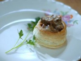Vol au Vents : Recipes : Cooking Channel - Laura Calder chicken a la king in puff pastry - divine!